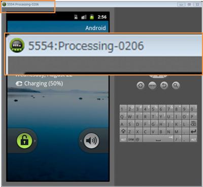 Android エミュレータを起動し、ポート番号を確認