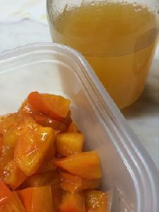 甘柿の白ワインマリネ