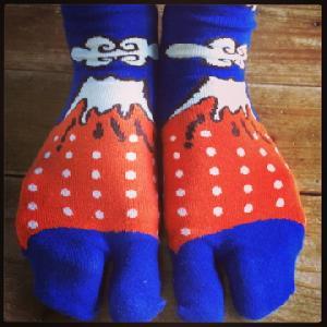 富士山靴下