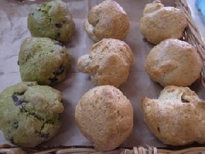 軽いタイプのスコーン3種(抹茶黒豆、レモン、金柑)