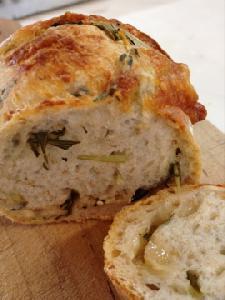 水菜とパルミジャーノの田舎パン