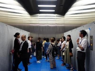 女子考古部 エレベーター