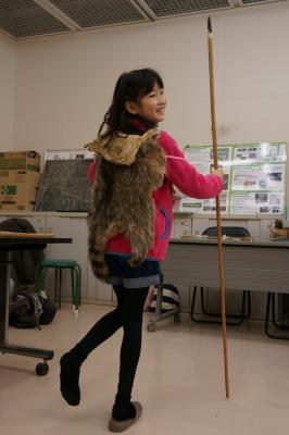 女子考古部 石器作り