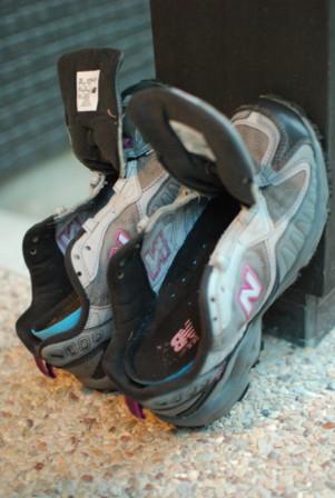 夫が洗ってくれた靴!!