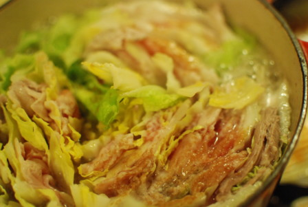 白菜と豚肉のミルフィーユ鍋