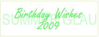 サマー・グローへの誕生日祝メッセージ