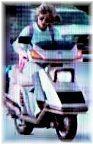 Linda hamilton 1984 Honda Elite Scooter
