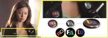 キャメロン フィリップスのバッジ ファッション Cameron button badge
