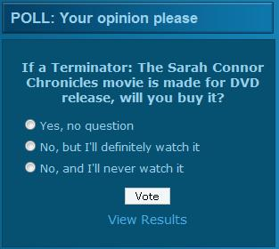 Terminator Sarah Connor Chronicles Direct DVD Movie