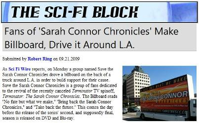 Sci Fi Block ブロック ターミネーター サラ コナー クロニクルズ 画像