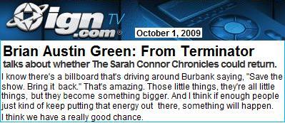 ブライアン・オースティン・グリーン 続編シーズン3について
