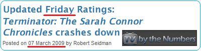 視聴率 魔の金曜日 TSCC Rating