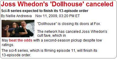 Dollhouse ドールハウス 終了