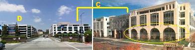ブリッジオフィスと立体駐車場