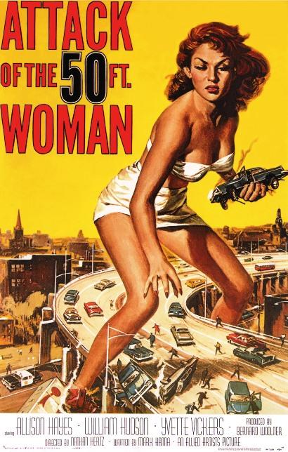 妖怪 巨大女 ATTACK OF 50ft woman ポスター画像