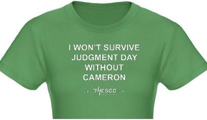 キャメロンなしでは審判の日を生き延びられないTシャツ