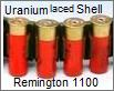Uranium rounds bullets of shotgun