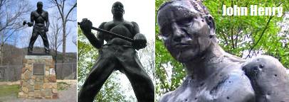 ジョンヘンリーの銅像