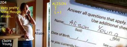 クレア・ヤング ALISON YOUNG