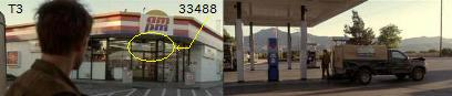 ターミネーター3のガソリンスタンド ampm