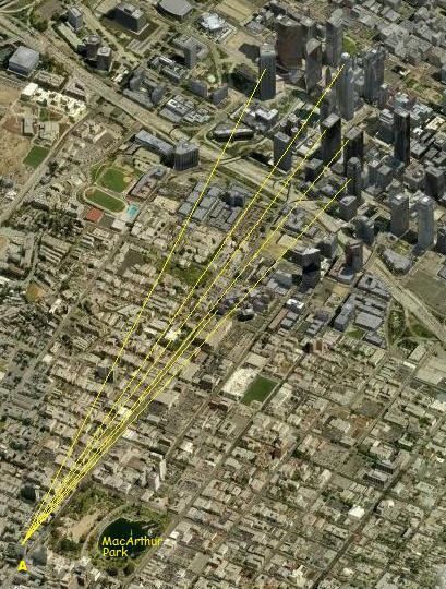 ロサンゼルス摩天楼撮影地点