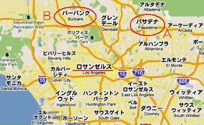 パサデナ ロサンゼルス 地図