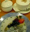 ベリーチーズケーキ&カプチーノ