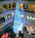 サンシャインシティ噴水広場クリスマスツリー3Fから