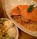 渡り蟹のスパゲッティ&サラダバー&ドリンク