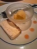 レアチーズケーキとマンゴーアイス〜グァバソース添え〜