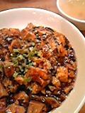 マーボーかけご飯(スープ付)