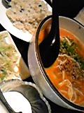 坦々麺とミニチャーハン