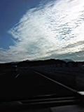 関越自動車道からうろこ雲