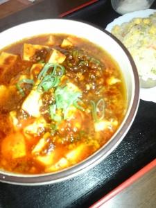 麻婆豆腐麺、半チャーハン