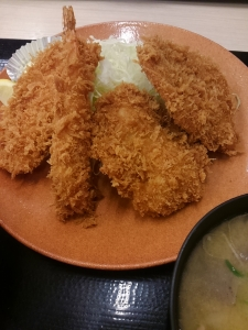 海鮮ヒレカツ定食