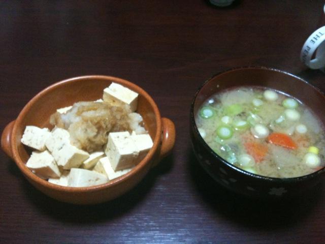 豆腐ダイエット二日目