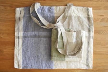 lino e lina:リネンwasedバッグ〈カレリア〉
