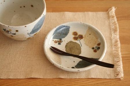 砥部焼:森陶房:手塩皿/スープボウル〈木の葉〉