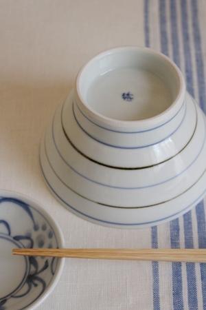 砥部焼・梅山窯:くらわんか茶碗・大