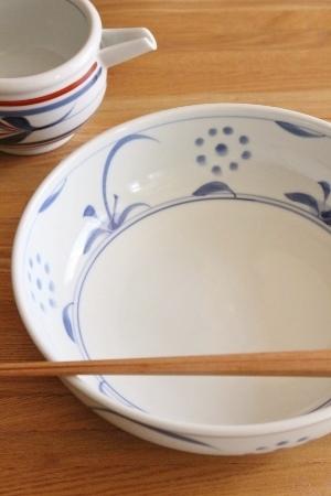砥部焼・梅山窯:七寸平鉢/片口鉢