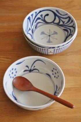 砥部焼・梅山窯:四寸七分鉢
