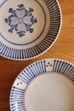 砥部焼・梅山窯:四寸六分丸皿