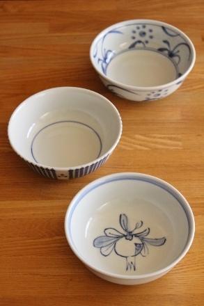 砥部焼・梅山窯:三寸七分平鉢