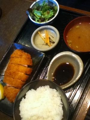 松阪豚とんかつ定食 900円