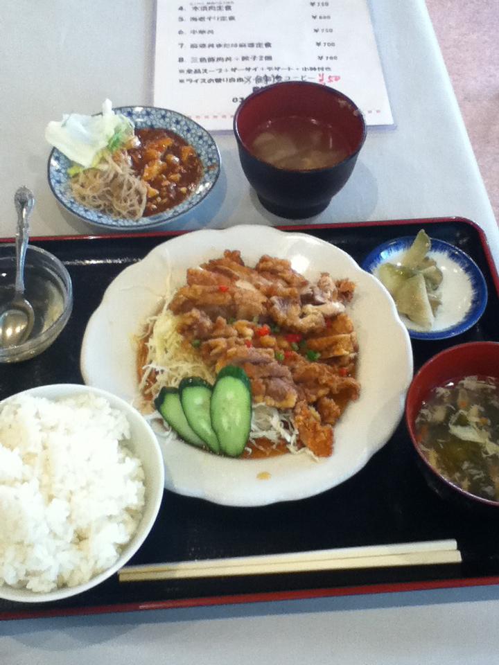 日替り定食(油淋鶏) 680円