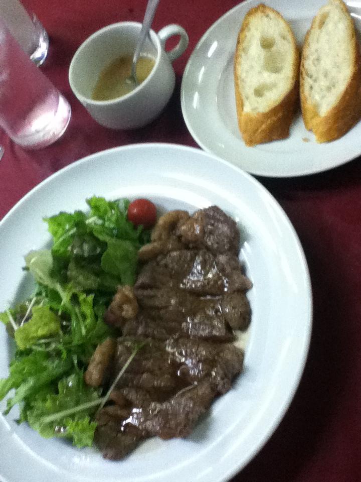 豪州産サーロインステーキ150g(スープ、ライスorパン付)980円