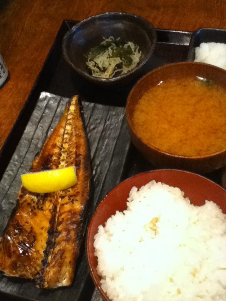 トロあじ定食 780円
