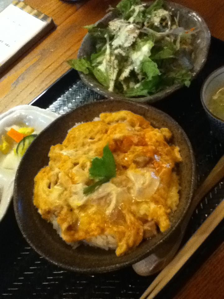 地鶏の親子丼 950円