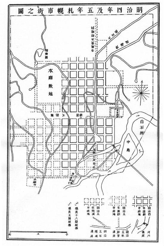 明治4年市街圖