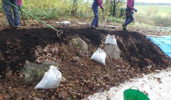 堆肥の混和